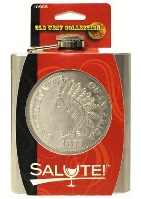 Salute! Travel & Sport Flask with the Old West Collection, Black
