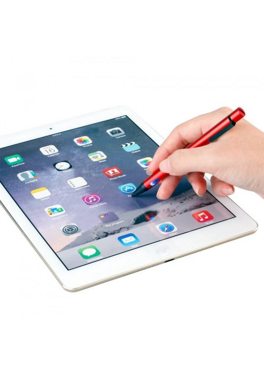 Smart Active Stylus Capacitive Touch Screen Pen USB Charging 2.3 mm Pen for iPad iPhone Samsung Tablet Red