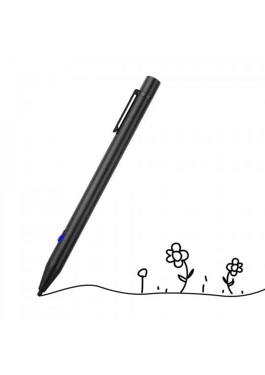 Salute Stylus Pen Active Touch Screen Capacitive Drawing Pen USB Charging Capacitor for iPhone iPad Samsung Tablet Black
